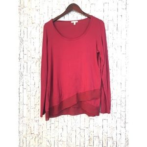 Anthropologie Bordeaux Burgundy Top